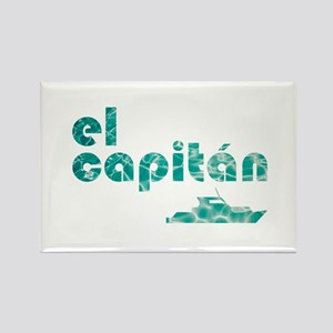 el capitán Rectangle Magnet