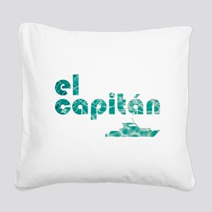el capitán Square Canvas Pillow