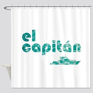 el capitán Shower Curtain