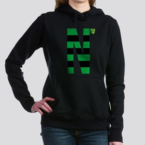 Norwich City Stripes Gre Women's Hooded Sweatshirt