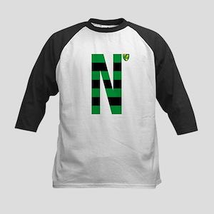 Norwich City Stripes Green and B Kids Baseball Tee