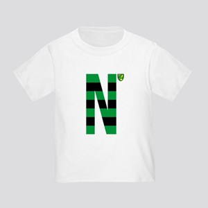 Norwich City Stripes Green and Bla Toddler T-Shirt