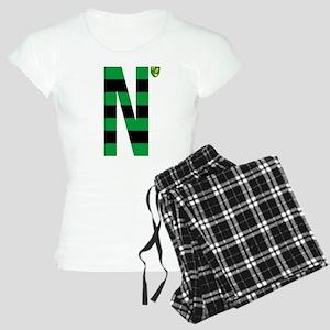 Norwich City Stripes Green Women's Light Pajamas