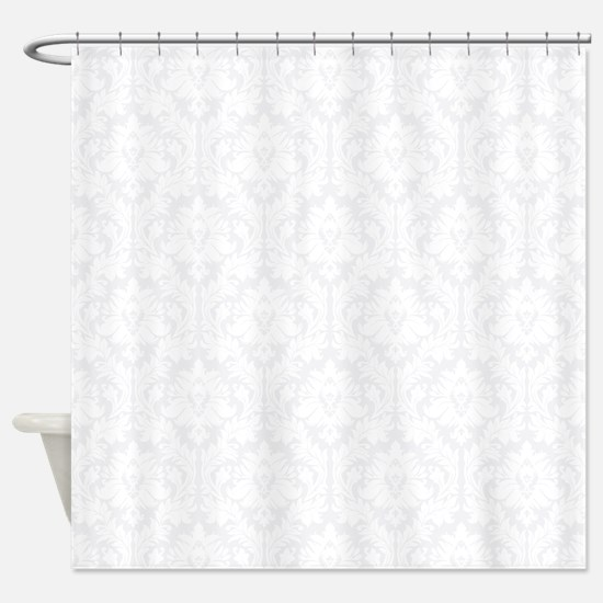 Light Grey Damask Shower Curtain