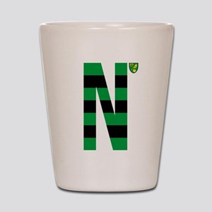 Norwich City Stripes Green and Black Shot Glass
