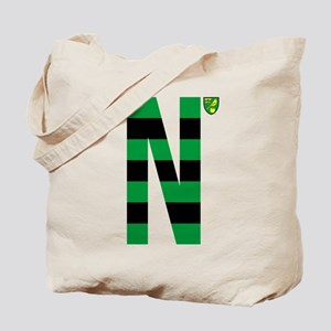 Norwich City Stripes Green and Black Tote Bag