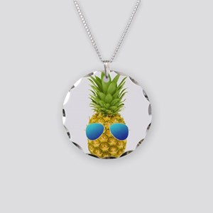 Cool Pineapple Necklace Circle Charm