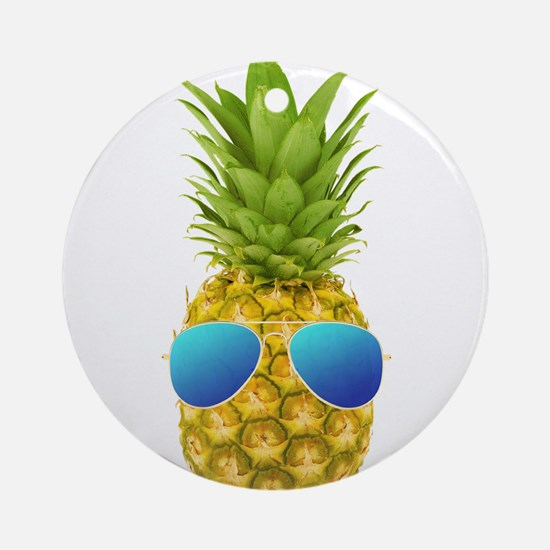 Cool Pineapple Round Ornament