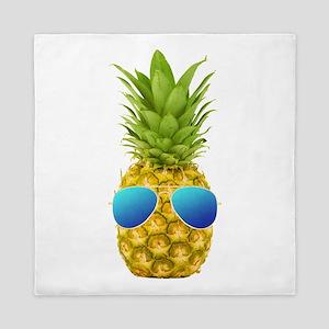 Cool Pineapple Queen Duvet