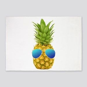 Cool Pineapple 5'x7'Area Rug