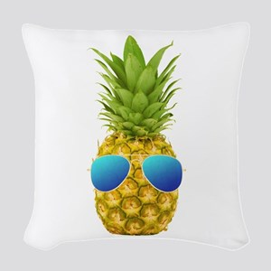 Cool Pineapple Woven Throw Pillow