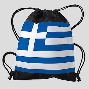 Flag of Greece Drawstring Bag