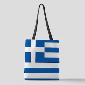 Flag of Greece Polyester Tote Bag