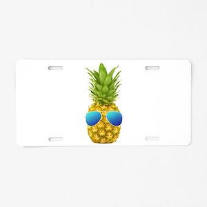 Cool Pineapple Aluminum License Plate