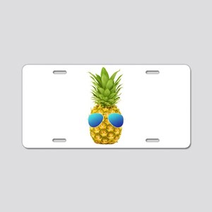 Cool Pineapple Aluminum License Plate