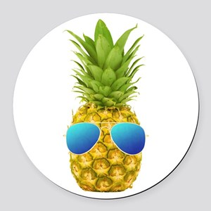 Cool Pineapple Round Car Magnet