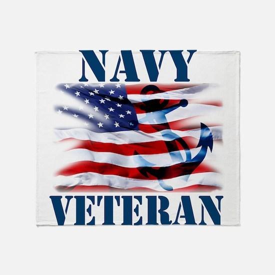 Navy Veteran copy Throw Blanket