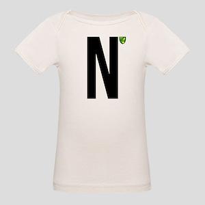 Norwich City In Black Organic Baby T-Shirt
