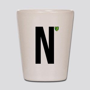 Norwich City In Black Shot Glass