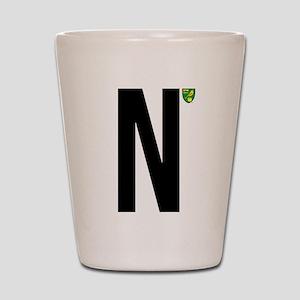 Norwich City In Black Shot Glass