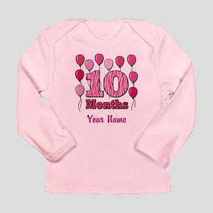 Ten Months - Baby Milestones Long Sleeve T-Shirt