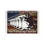 Parkway Chorale Retro Rectangle Magnet