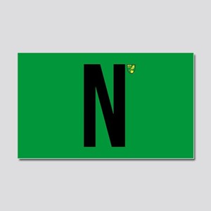 Norwich City in Black Car Magnet 20 x 12