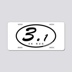 Oval 3.1 Miles 5k Aluminum License Plate
