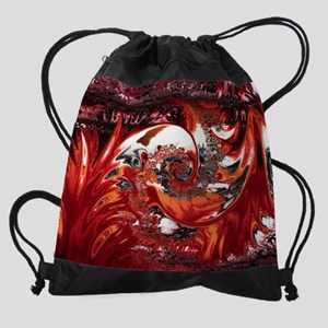 Jamaican Wave Abstract Drawstring Bag