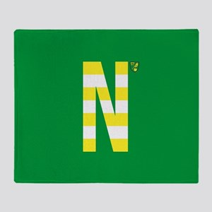 Norwich City in Yellow Stripe Throw Blanket