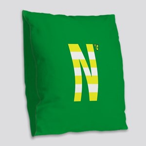 Norwich City in Yellow Stripe Burlap Throw Pillow