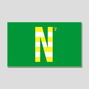 Norwich City in Yellow Stripe Car Magnet 20 x 12
