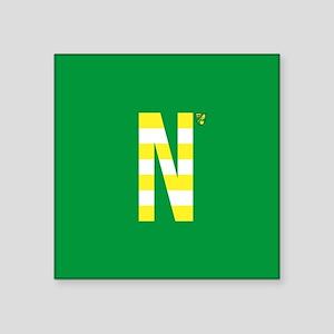 """Norwich City in Yellow Stri Square Sticker 3"""" x 3"""""""