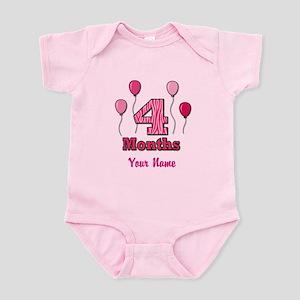 Four Months - Baby Milestones Body Suit