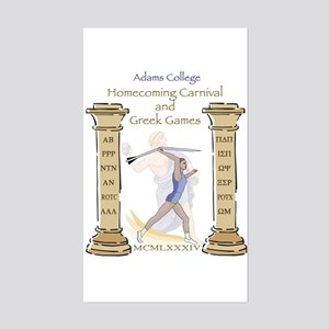 Adams College Homecoming Rectangle Sticker