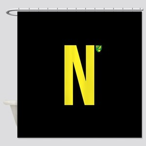Norwich City in Black Shower Curtain