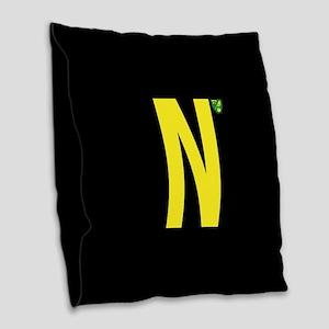 Norwich City in Black Burlap Throw Pillow
