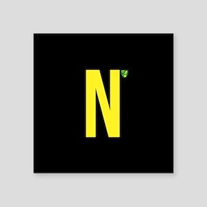 """Norwich City in Black Square Sticker 3"""" x 3"""""""