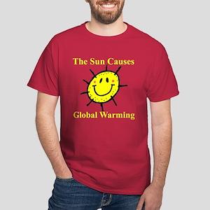Sun Causes Global Warming Dark T-Shirt