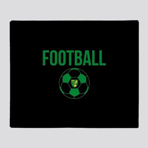 Norwich City Football in Black Throw Blanket