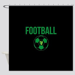Norwich City Football in Black Shower Curtain
