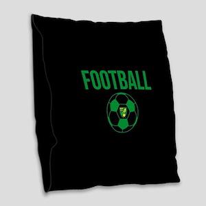 Norwich City Football in Black Burlap Throw Pillow