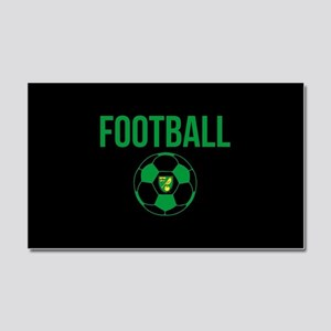 Norwich City Football in Black Car Magnet 20 x 12