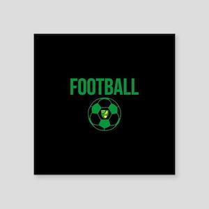 """Norwich City Football in Bl Square Sticker 3"""" x 3"""""""