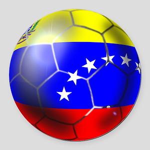 Venezuela Soccer Ball Round Car Magnet
