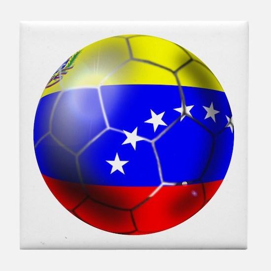 Venezuela Soccer Ball Tile Coaster