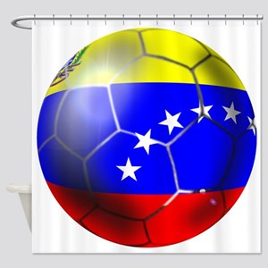Venezuela Soccer Ball Shower Curtain