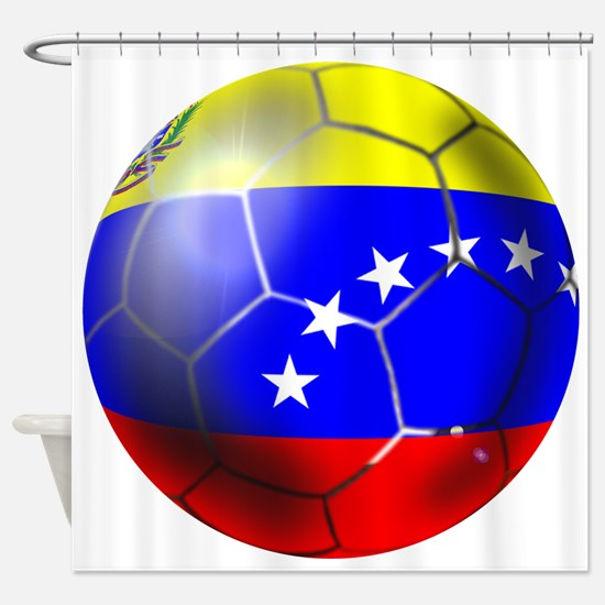 Venezuela Soccer Ball Shower Curtain