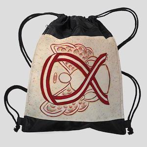 Head and Neck Cancer Awareness Ribb Drawstring Bag