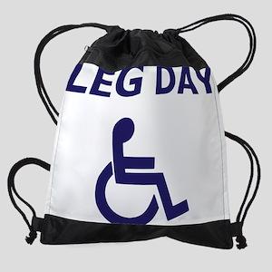 Leg Day Wheelchair Drawstring Bag